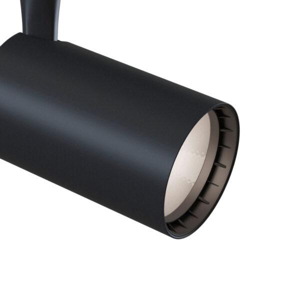 1-faset spotlight Track LED 3000K 6W, sort
