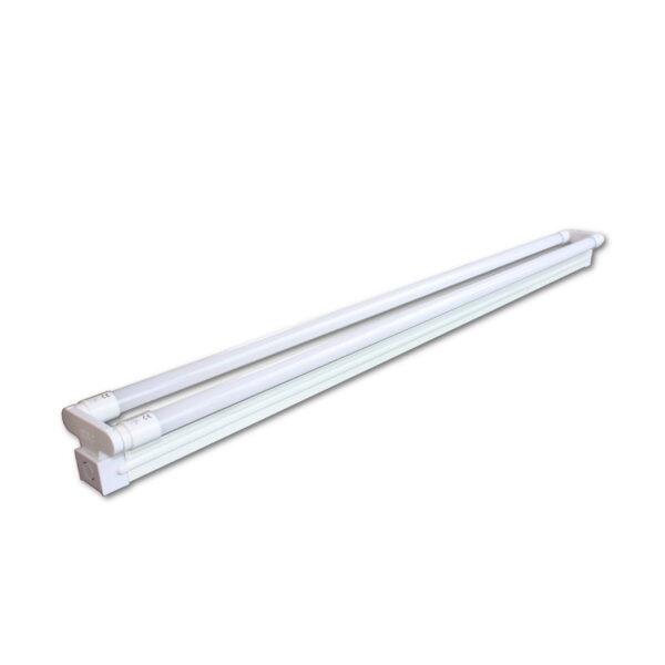 120cm 2x20W IP20 LED Dobbelt Lysstofrørs armatur - 3000K
