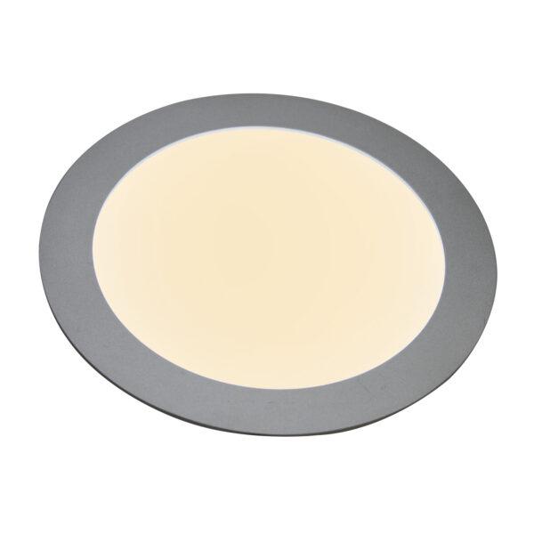 27636 LED-indbygningspanel, flad, rund, 12 W
