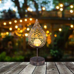 33528 LED-solcellelampe i bladform