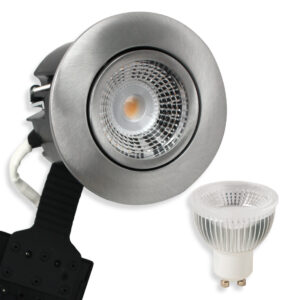 5.5W LED Spot HL, Mat. Alu Quick UNI Install GU10, 400lm (Dæmpbar)