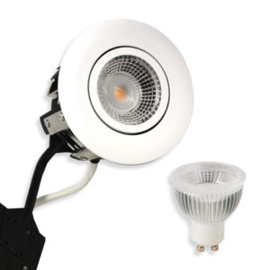 5.5W LED Spot HL, Mat.Hvid Punto GU10, 400lm (Dæmpbar)
