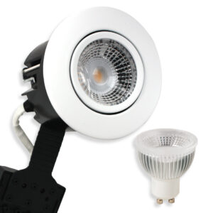 5.5W LED Spot HL, Mat.Hvid Quick UNI Install GU10, 400lm (Dæmpbar)