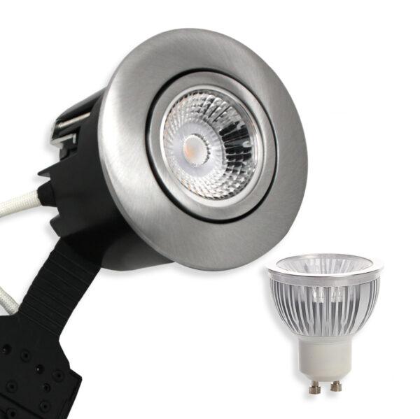 5.5W Ra95 LED Spot, Mat.Alu. Quick UNI Install GU10, (Dæmpbar)