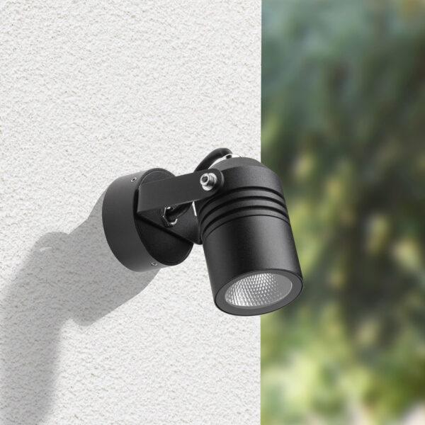 5019 udendørs LED-spot, sort, IP65