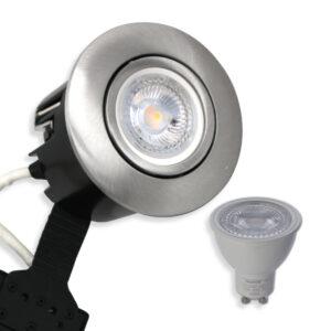 5W LED Spot Mat. Alu Quick UNI Install inkl. Daxtor Gu10 (Ej Dæmp)