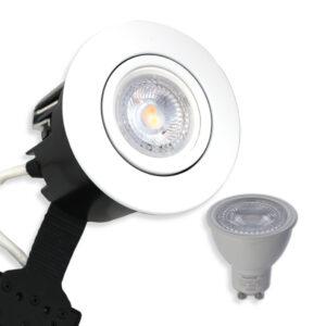 5W LED Spot Mat. Hvid Quick UNI Install inkl. Daxtor Gu10 (Ej Dæmp)