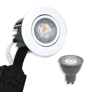 5W LED Spot Mat. Hvid Quick UNI Install inkl. Nordtronic Gu10 (Dæmpbar)