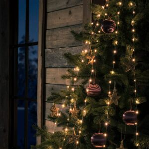 App styret LED trælyskæde indendørs 240 lyskilder