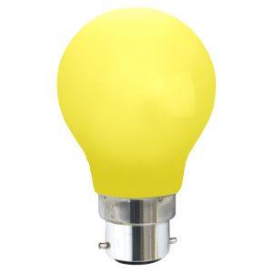 B22 0,8 W LED-pære, gul