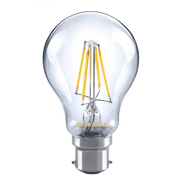 B22 4W 827 LED filament pære, klar