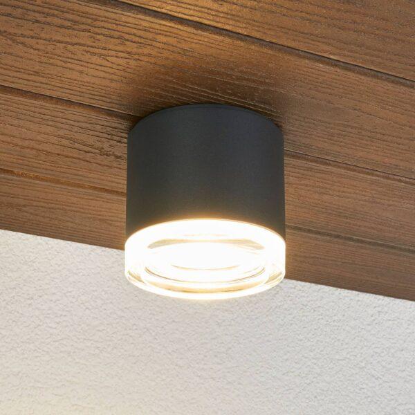 BEGA 66056K3 udendørs loftlampe, grafit 3.000K 62°