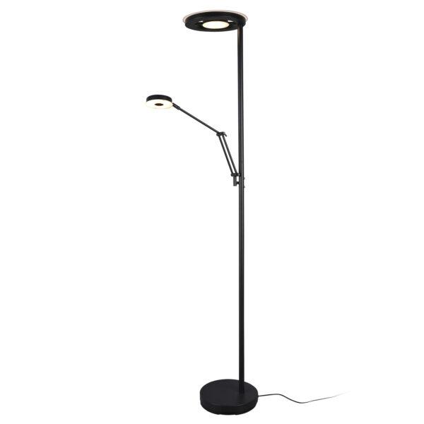 Barrie LED-uplight lampe m læselampe, mat sort