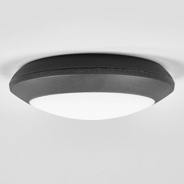 Berta udendørs loftlampe med LED, sort, CCT