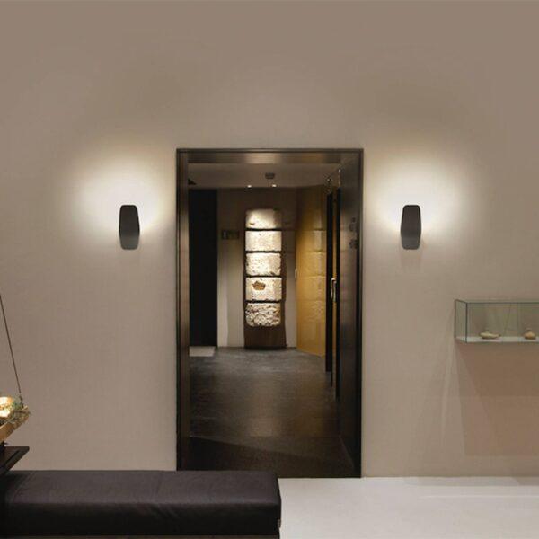 Casablanca Ashiya LED-uplight væglampe smaragdsort