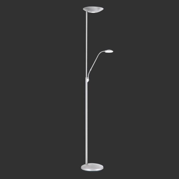 Cobra LED-uplight lampe i mat nikkel, m. læselampe