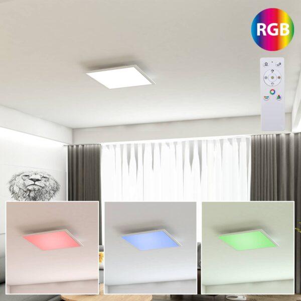 Colour LED-panel 29,5cm x 29,5cm m. fjernbetjening