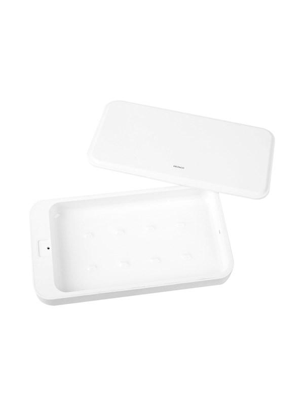 DELTACO UV sanitizing box with UVC LED White
