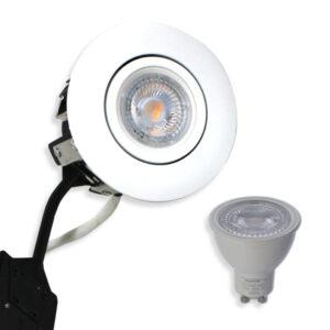 Daxtor 5W GU10 inkl. 230V Rustfrit LED Spot Punto Mat. Hvid (Ej Dæmp)