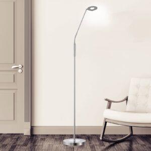 Dent LED-gulvlampe, CCT, 1 lyskilde, nikkel