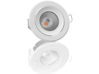 Downlight One Tilt LED 6,5W, 520lm, 3000K, 36°, dæmpbar, tilt, CRI90, Hvid