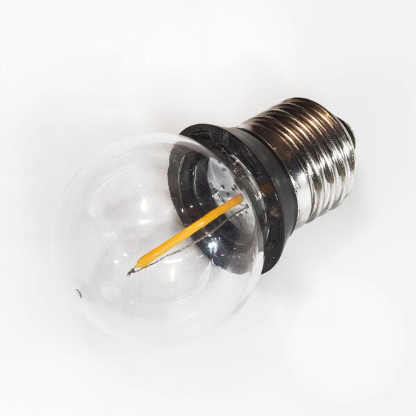 E27 0,9 W COB LED-dråbepære med tætningsring