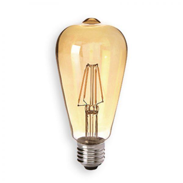 E27 4,5W 824 LED rustik lyspære guld, klar