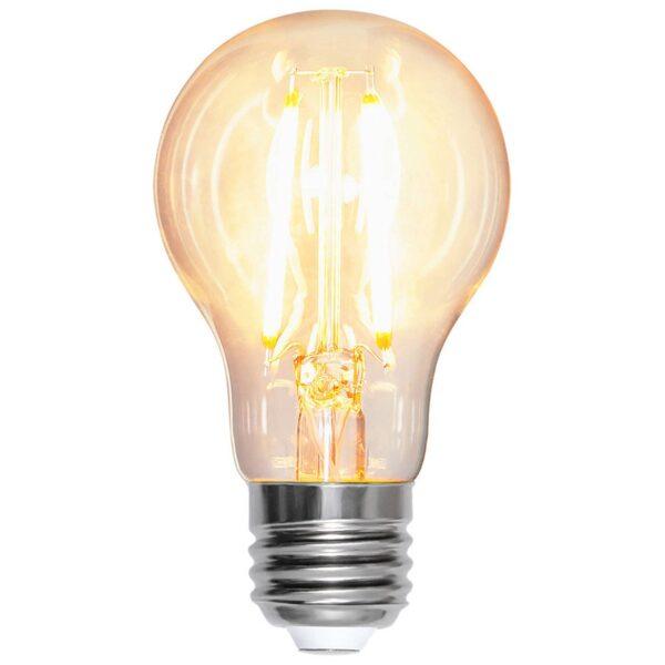 E27 A60 LED-pære 8W 2.700K filament 1.000 lumen