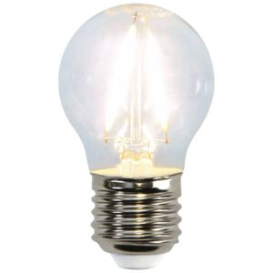 E27 G45 LED-miniglobe-pære 2W 2.700K filament