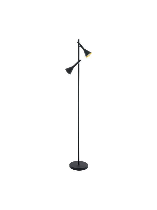 EGLO CORTADERAS gulvlampe LED 2x5W GU10, sort/guld