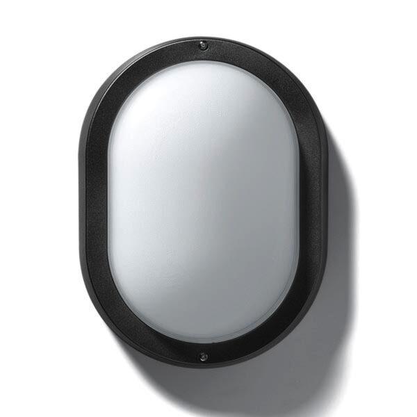 EKO 19 udendørs væg- eller loftlampe i sort