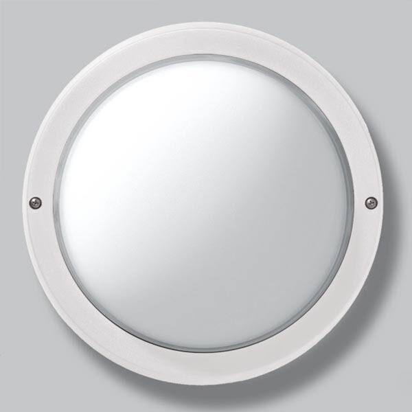 EKO 26 udendørs væg- eller loftlampe i hvid