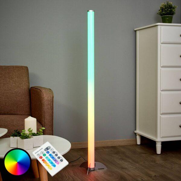 Effektfuld LED-gulvlampe Ilani RGB
