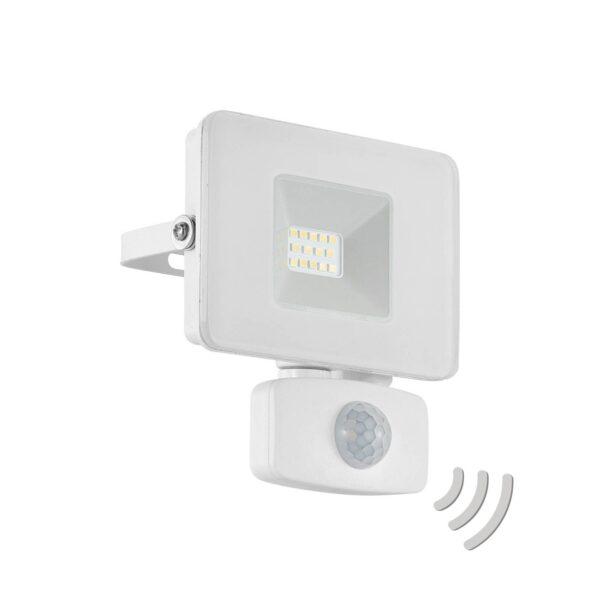 Faedo 3 udendørs LED-spot med sensor, hvid, 10 W