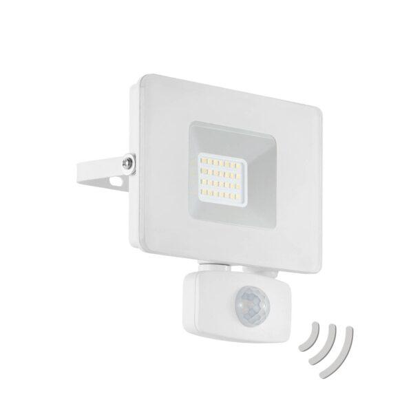 Faedo 3 udendørs LED-spot med sensor, hvid, 20 W