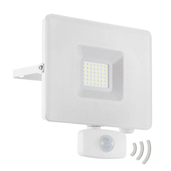 Faedo 3 udendørs LED-spot med sensor, hvid, 30 W