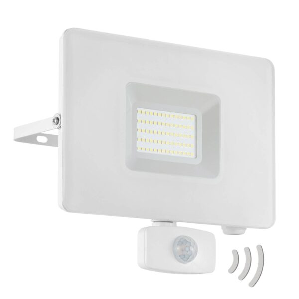 Faedo 3 udendørs LED-spot med sensor, hvid, 50 W