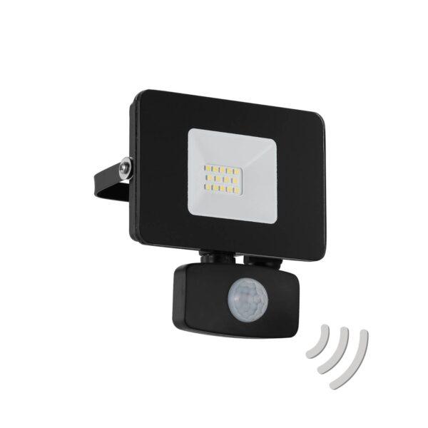 Faedo 3 udendørs LED-spot med sensor, sort, 10 W
