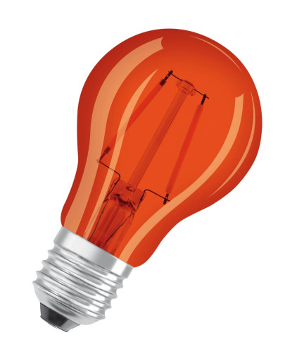 Farvet LED E27 Standardpære-Orange