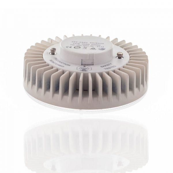 GX53 10W LED-pære, 1.200 lm, 3.000/4.000/6.500 K