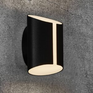 Grip udendørs LED-væglampe, CCT Smart Home, sort