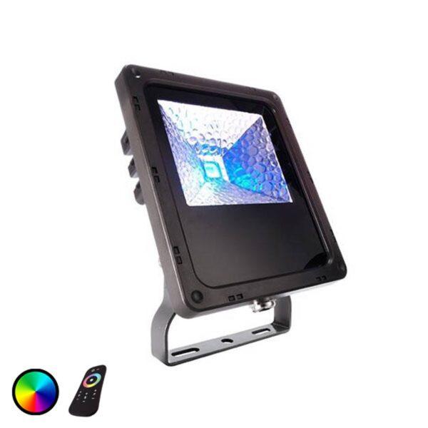 IP65 Flood Color RF-10 udendørs LED-spot, 10 W
