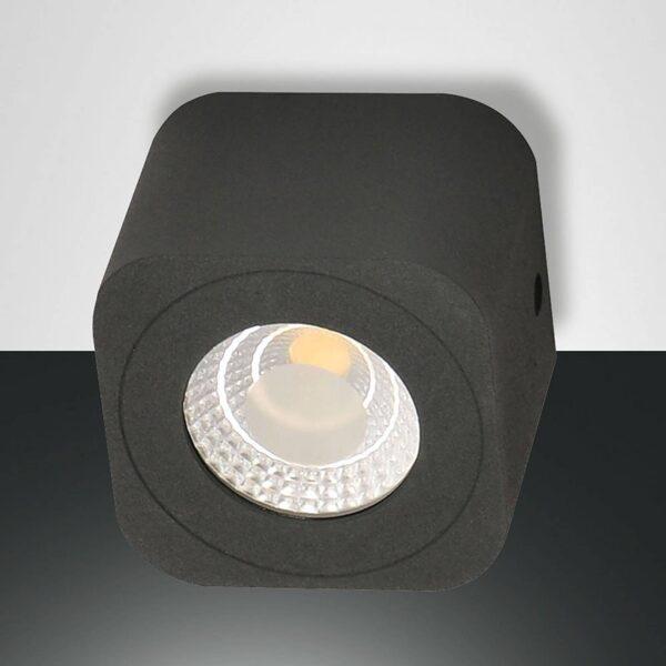 Kantet LED-downlight Palmi i antracit