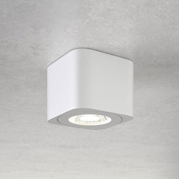 Kantet LED-downlight Palmi i hvid