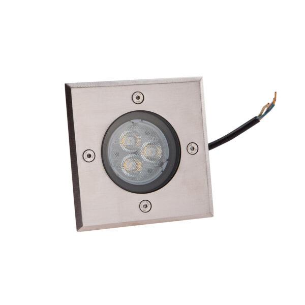 Kantet LED nedgravningslampe AVA, IP67
