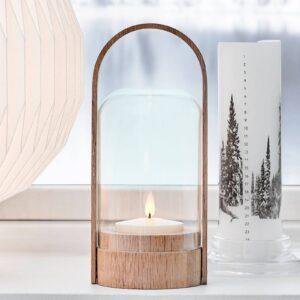 LE KLINT Candle Light LED-lanternelampe, egetræ