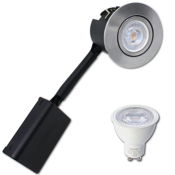 LED Spot   Daxtor Gu10 I PRIMA   Børstet Alu   230V (Ikke-Dæmpbar)