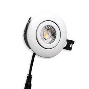 LED Spot Low 5W, Mat Hvid, Ra>90 Punto, 30mm, 475lm, 3000K