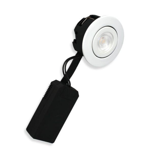 LED Spot Low 6W, Mat.Hvid, Ra>90, 40mm, 400lm, 3000K