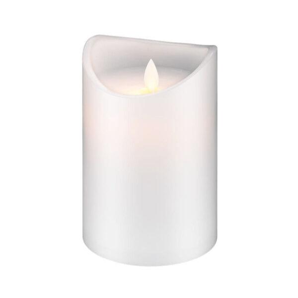 LED Stearinlys 10x15 cm m/bevægelig flamme